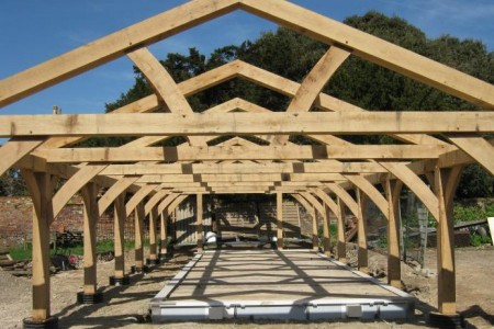 New Oak Frame for Swimming Pool near Herne Bay, Kent