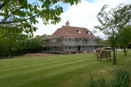 Oak Frame House taking shape near Canterbury, Kent
