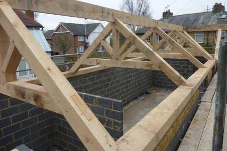 New Oak Roofs for Development in Wingham, near Canterbury Kent