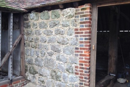 Ragstone Galleting in Aldington, Kent