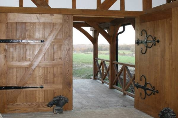 New Oak Frame Building Doors