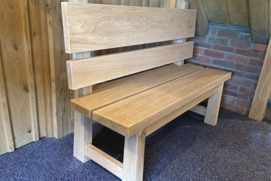 Bodsham School Bespoke Oak Bench