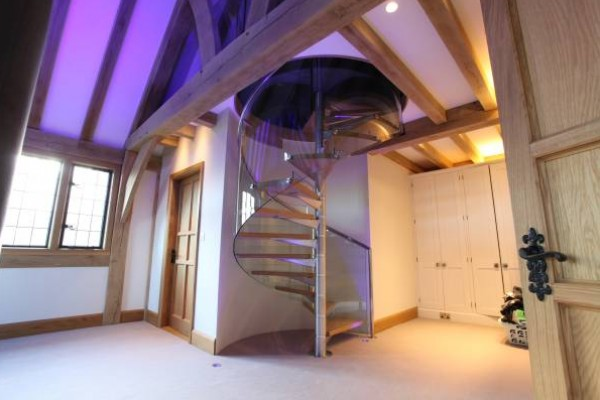 New Build Oak Frame Staircase