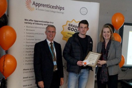 Charlie Stevens wins Intermediate Apprentice of the Year Award
