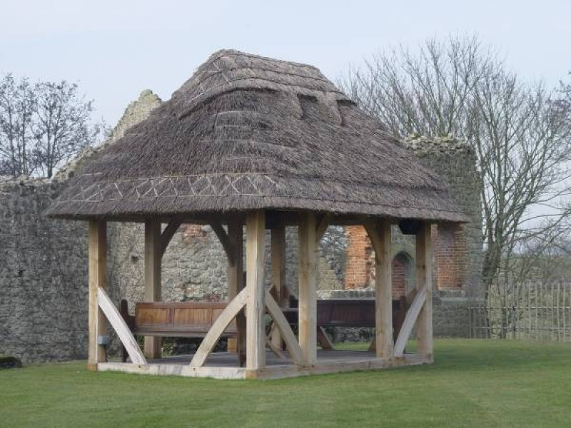 Thatched Oak Seating Area