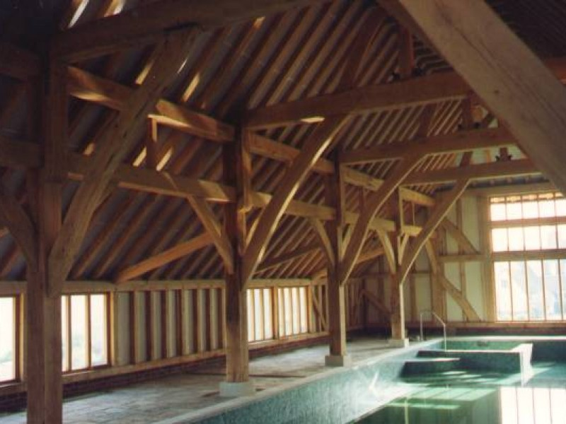 Internal Oak Framed Swimming Pool