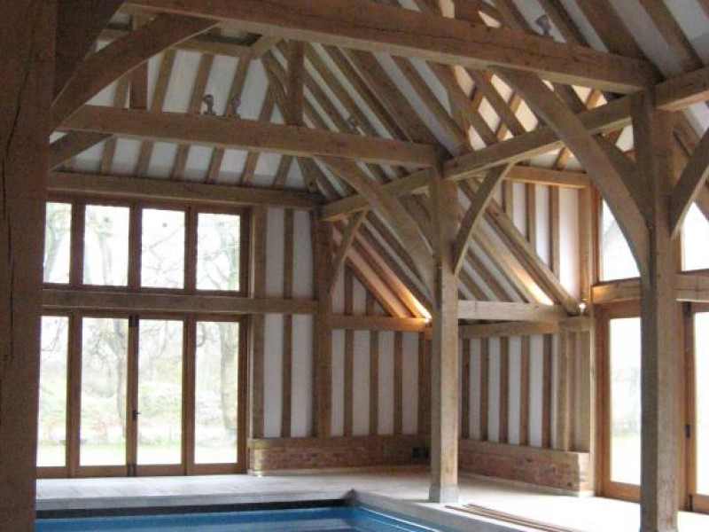 Oak Framed Swimming Pool Building