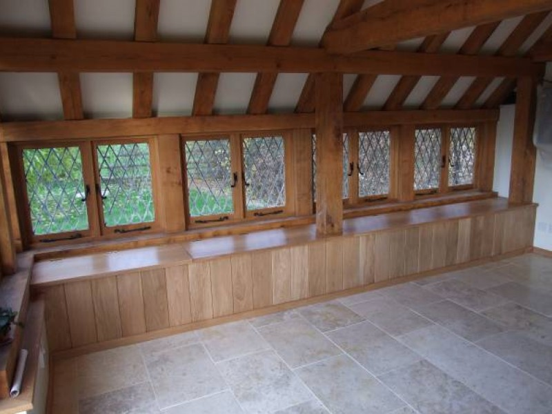 Oak Windows & Seating with Storage