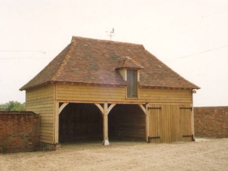 Oak Framed Cartlodge Building