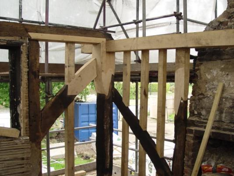 Fire Damage Repairs to Oak Frame