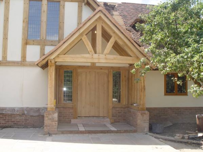Oak Porch and Door