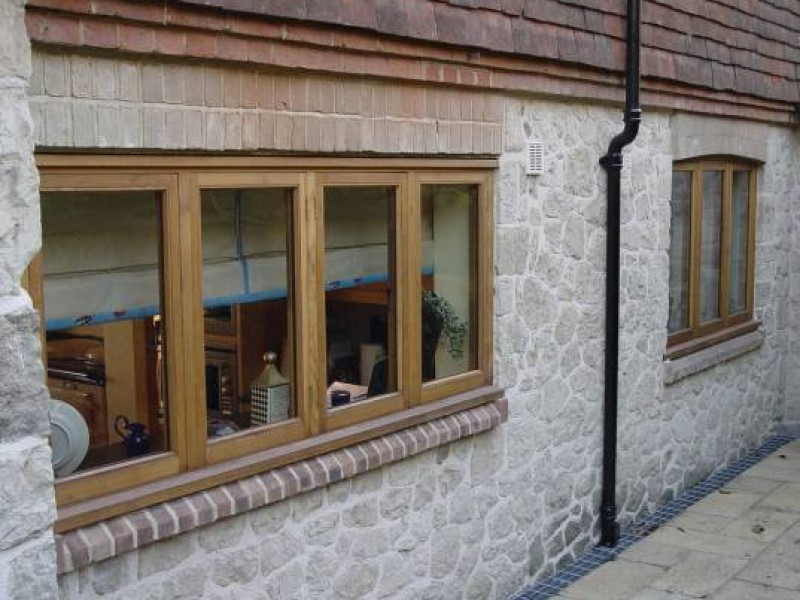 Modern Oak Framed Windows
