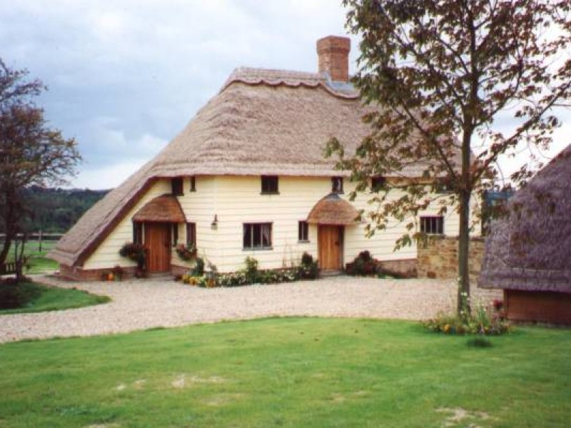 Thatched Oak Framed House