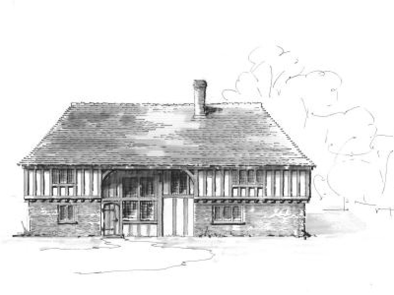 Wealden Hall House Drawing