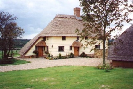 Thatched Roof Oak Framed House